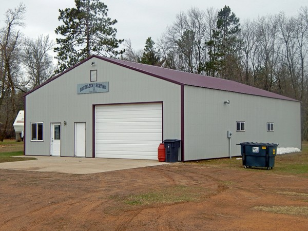 40' x 60' insulated and heated shop, plus barn