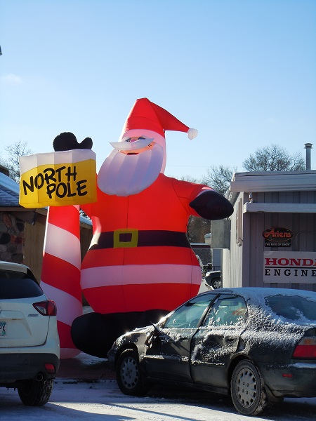 Webster Ace Hardware Santa