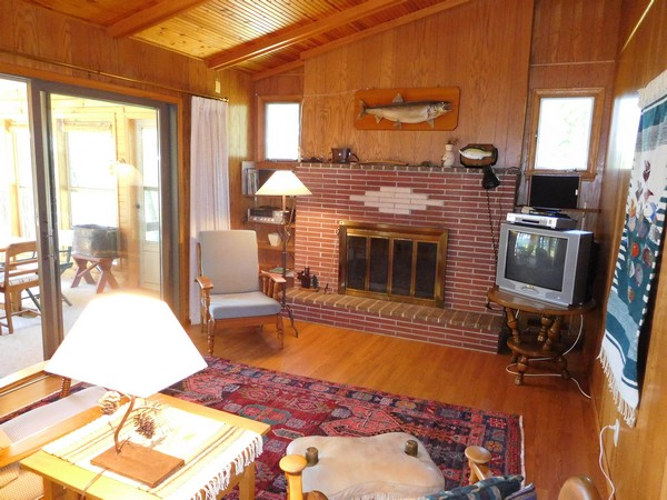 Gull Lake fireplace
