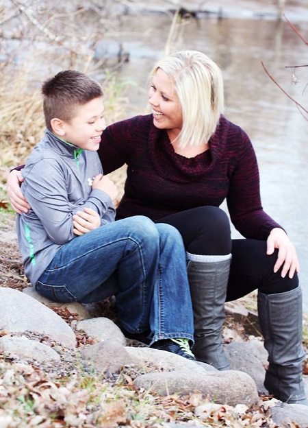 Trish Needham and her son Derrick enjoy life outdoors