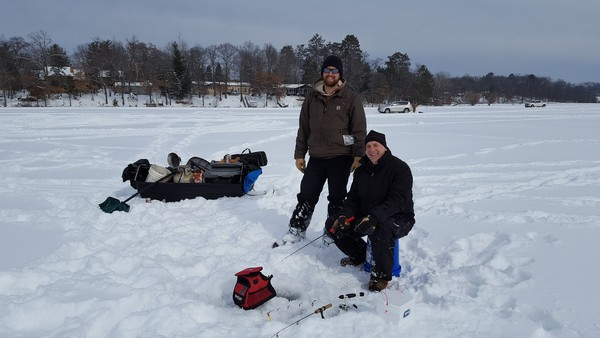 Ice Fishing in Burnett County