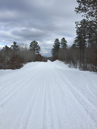 Snowmobile trails in Danbury, WI