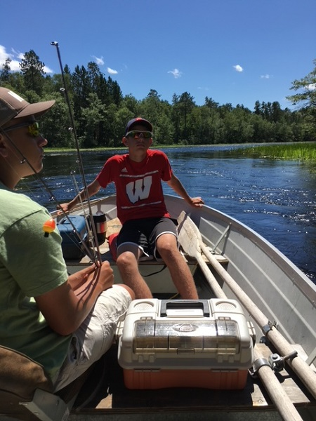 Fishing for bass and panfish on the Minerva Chain of Lakes