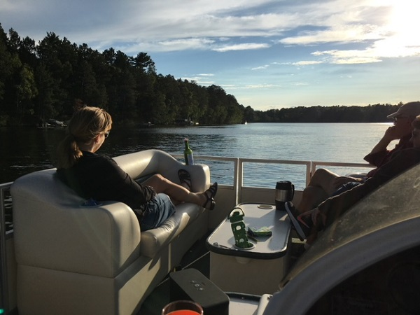 Sunset cruise on Minerva Lake