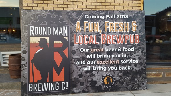 Round Man Brewing Co coming soon sign