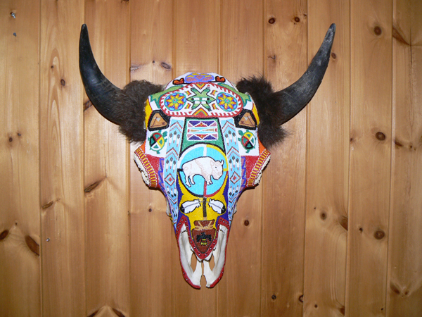 Beaded Buffalo Head
