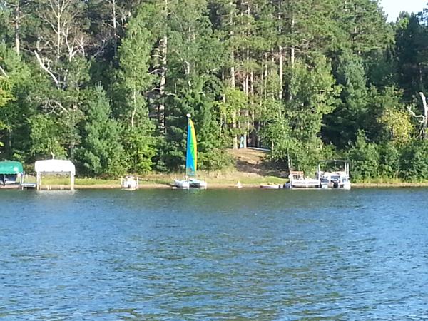 Sails up on Ham Lake