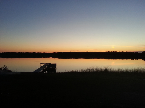 Sunset at Crooked Lake