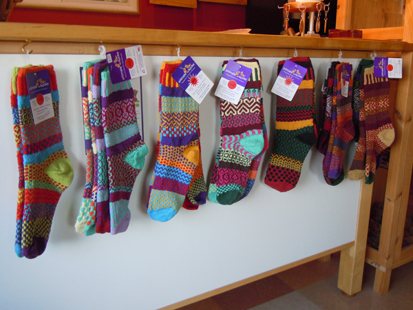 Fill these cozy, colorful stockings with chocolate