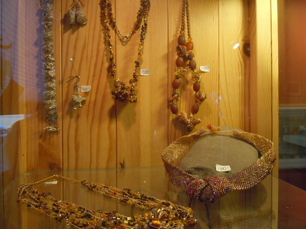 Just a sampling of the bead work jewelry