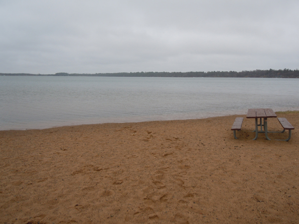 Devils Lake beach - near Webster, WI