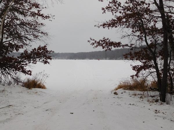 The landing at Burlingame Lake