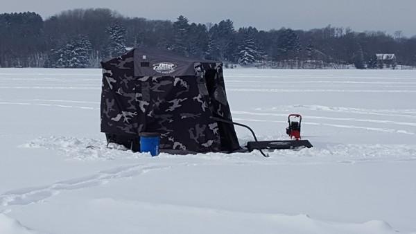 Ice Fishing Near Webster, WI