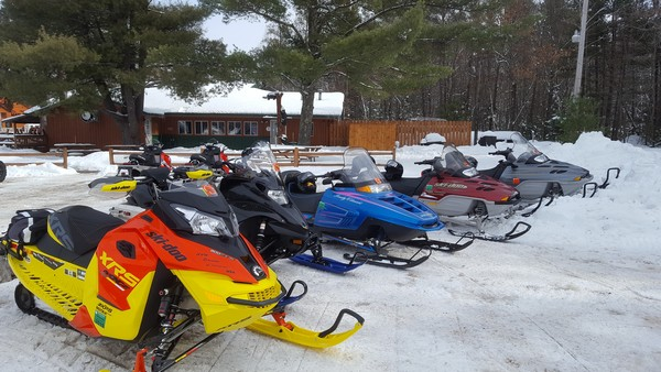 Snowmobiling in Webb Lake, WI
