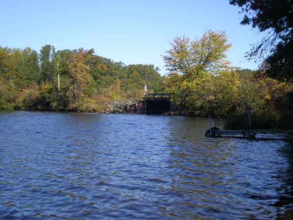 The channel between Minerva and Falk Lakes