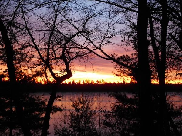 November sunrise in Northwestern WI