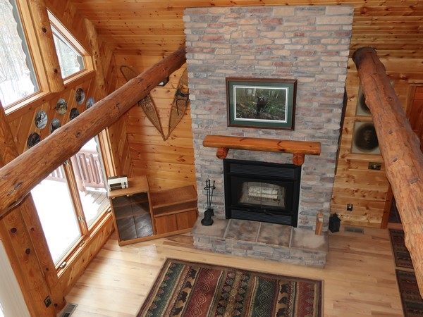 floor-to-ceiling fireplace